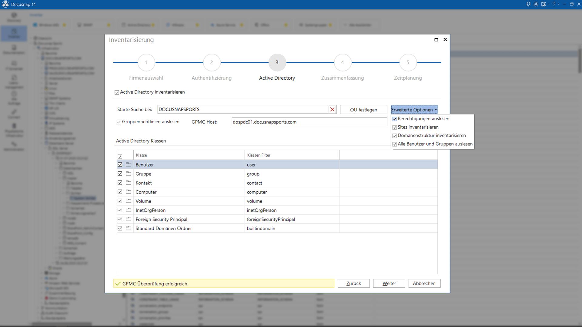 Active Directory Inventarisierung und Dokumentation