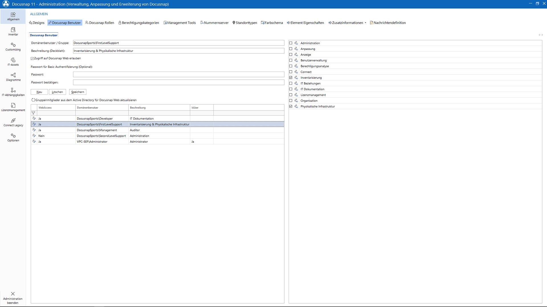 Screenshot: Benutzerverwaltung
