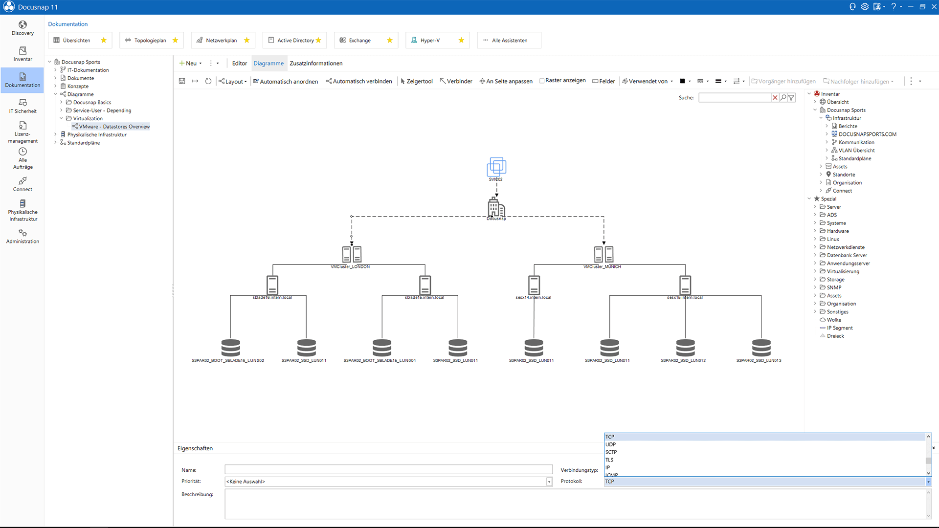 Screenshot: Zuordnungsdiagramm
