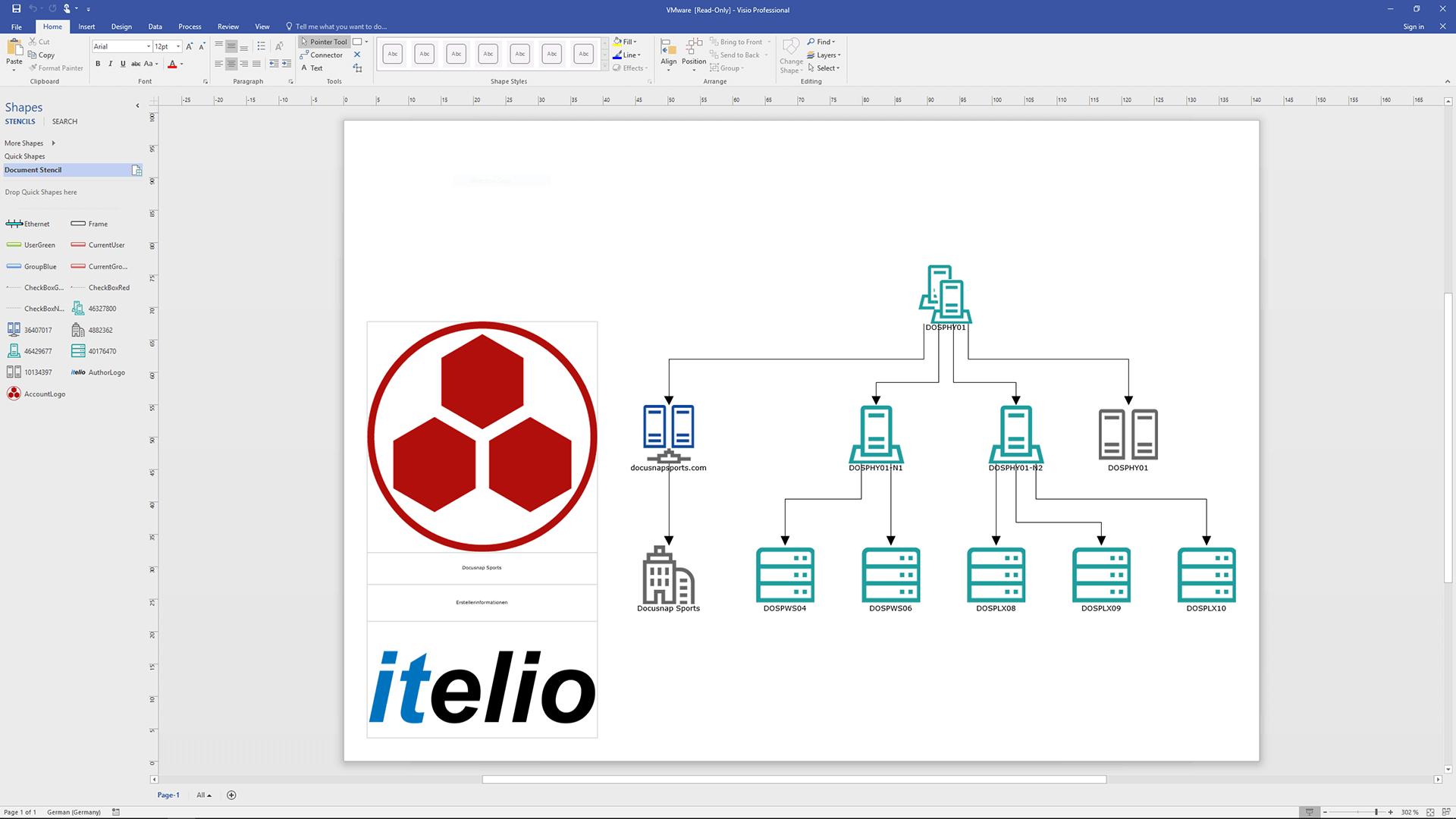 Screenshot: Visioexport IT-Beziehungen