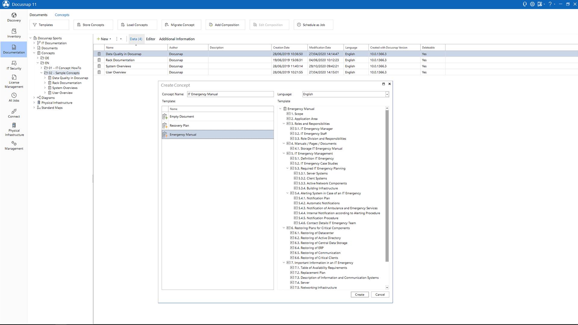 Screenshot: Creating IT Concepts