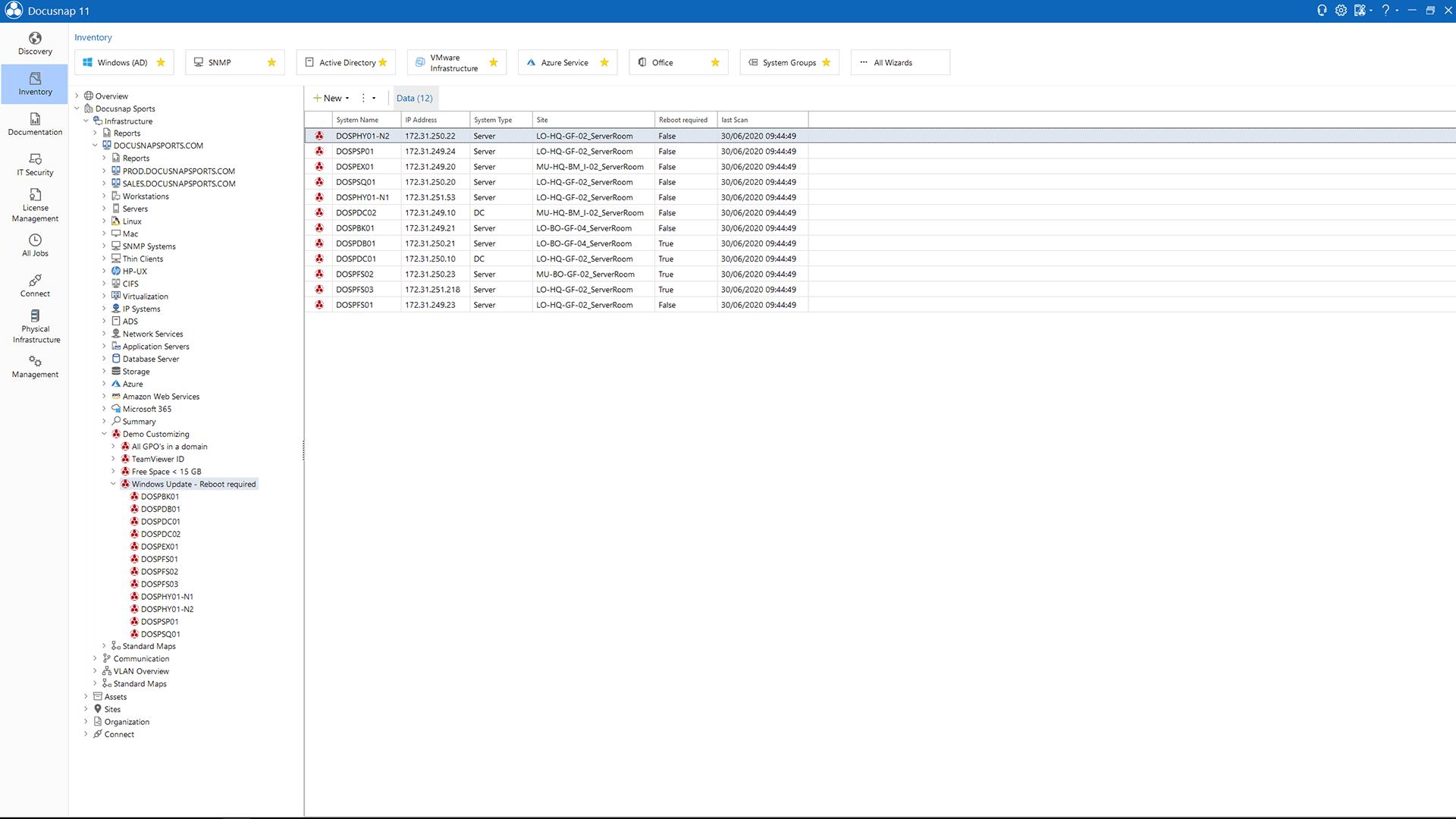 Screenshot: Customizing Results