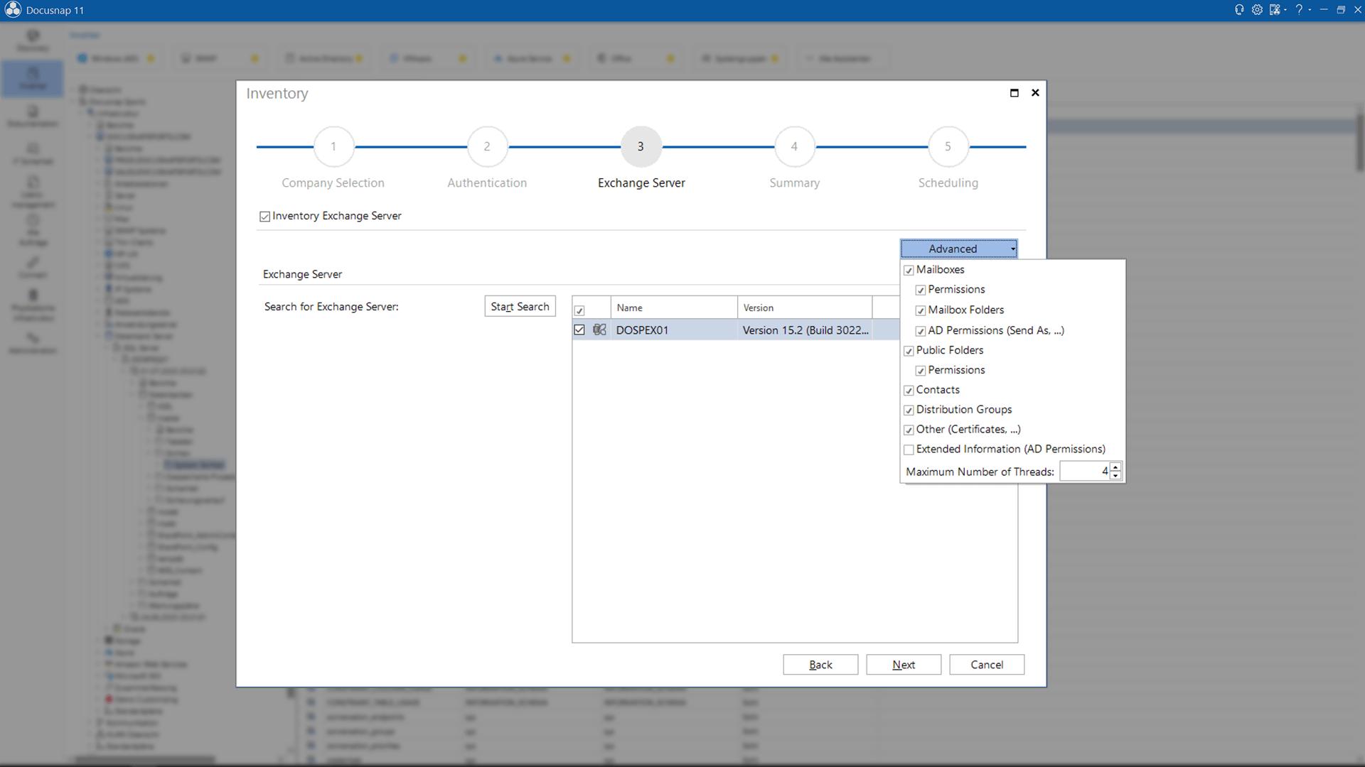 Screenshot: Inventory Assistent