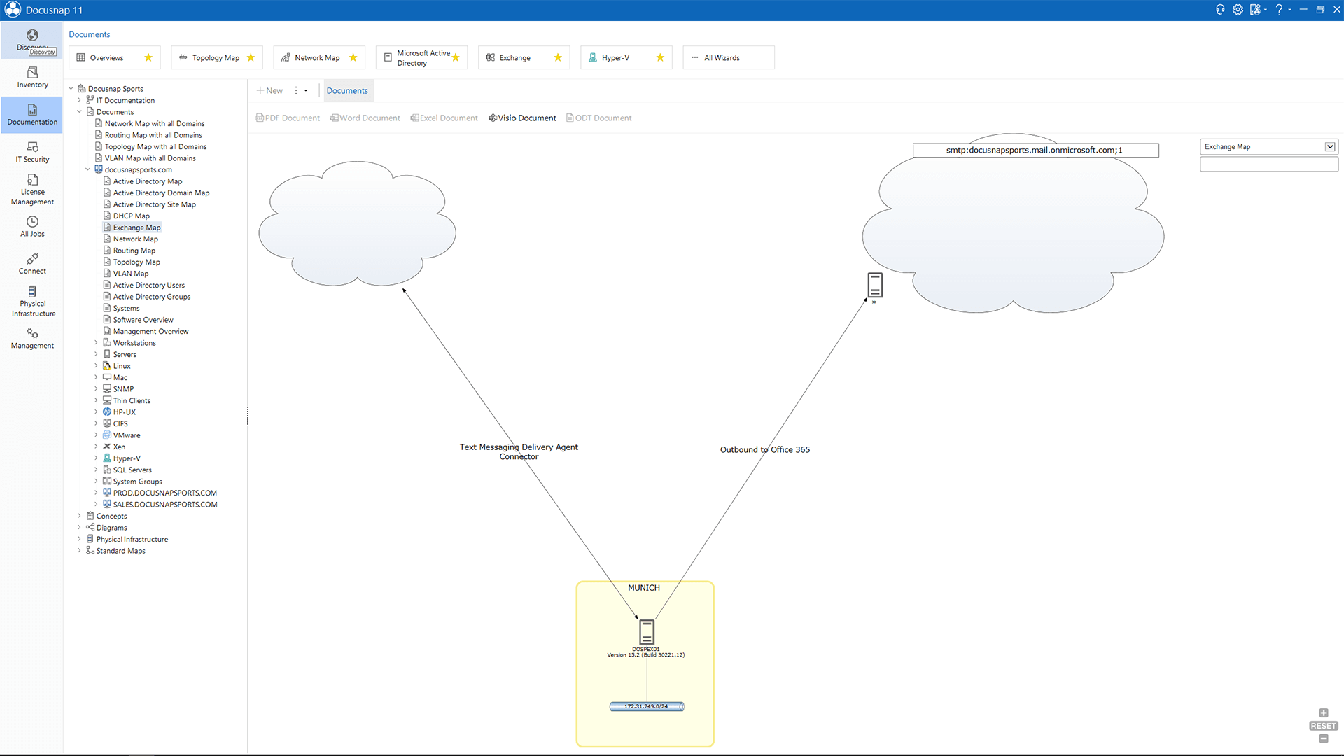 Screenshot: Exchange Map