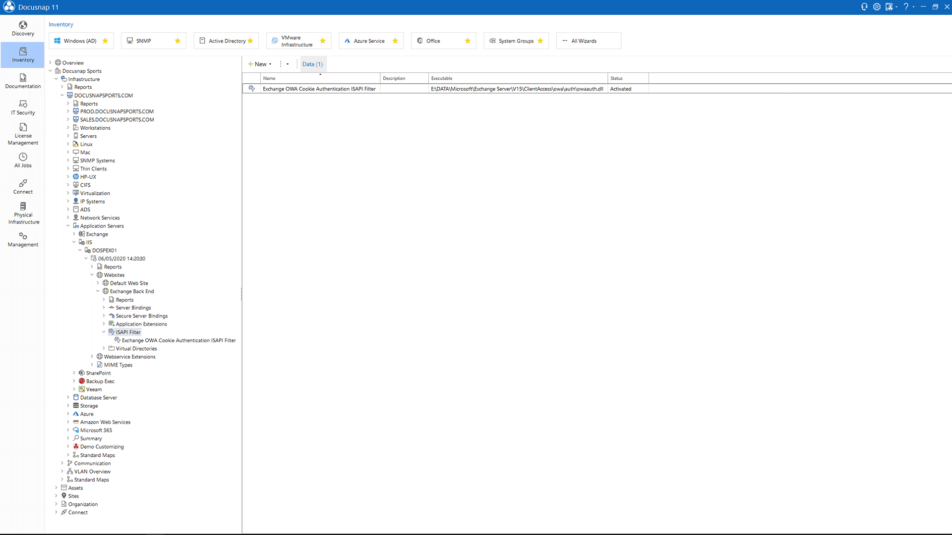 Screenshot: IIS Virtual Directories