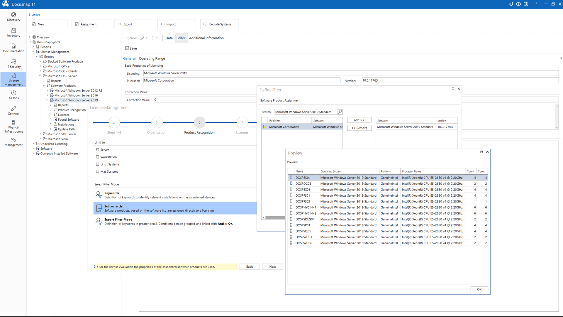 Screenshot: License Management System Assignment