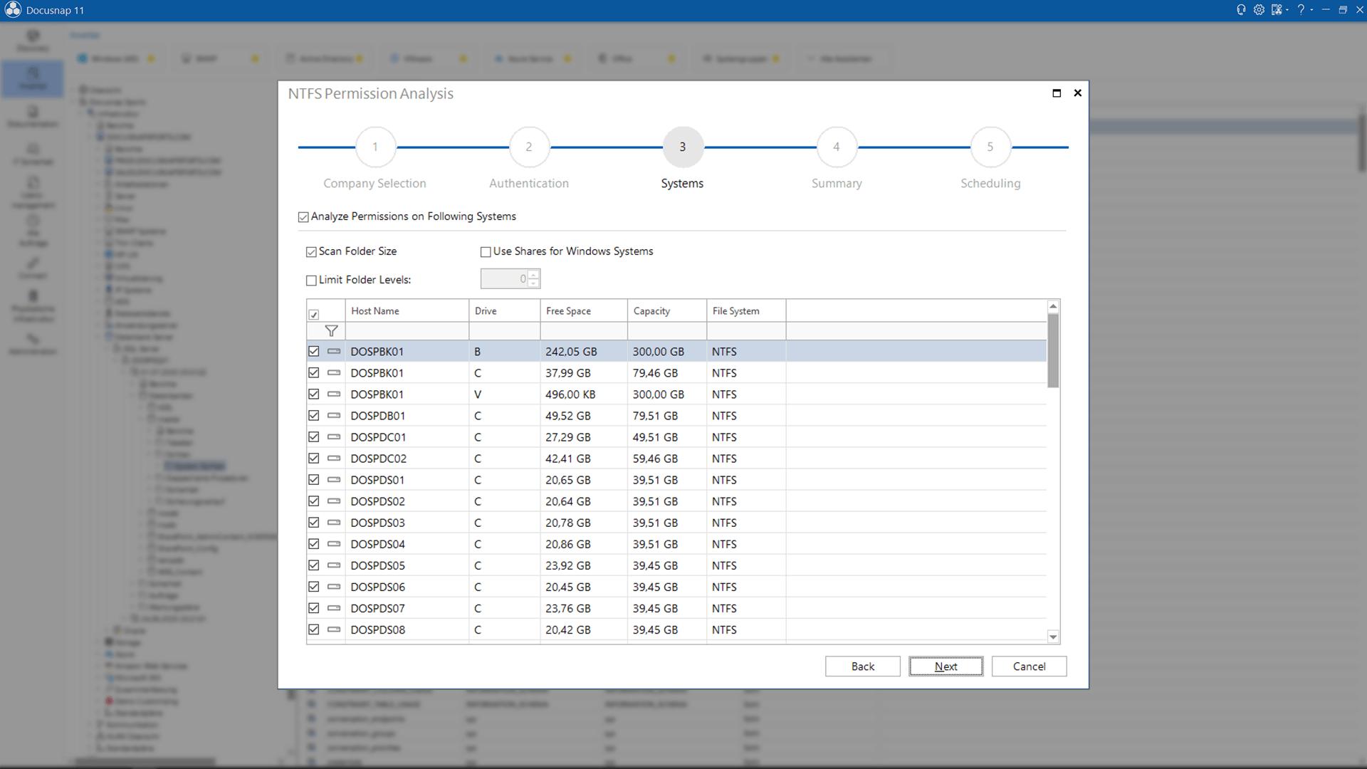 Screenshot: NTFS Permission Analysis