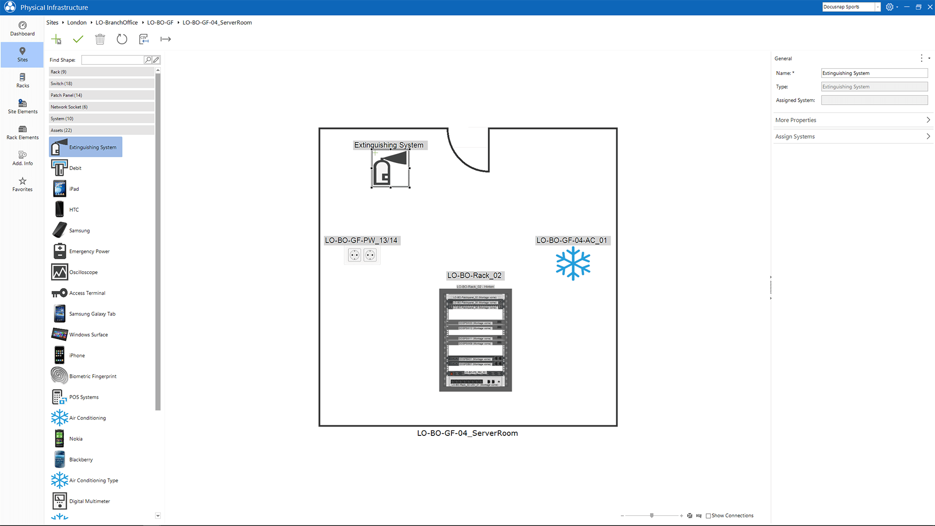 Screenshot: Manually Captured Patch Panel and in IT Documentation Integrated