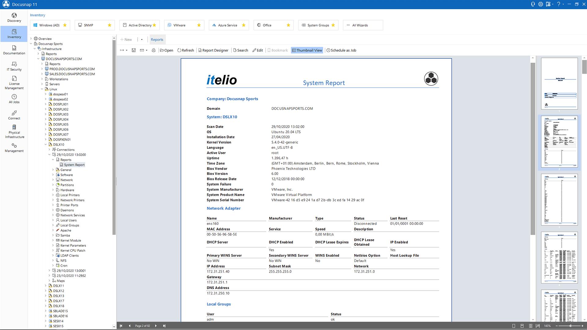 Screenshot: Linux Datasheet