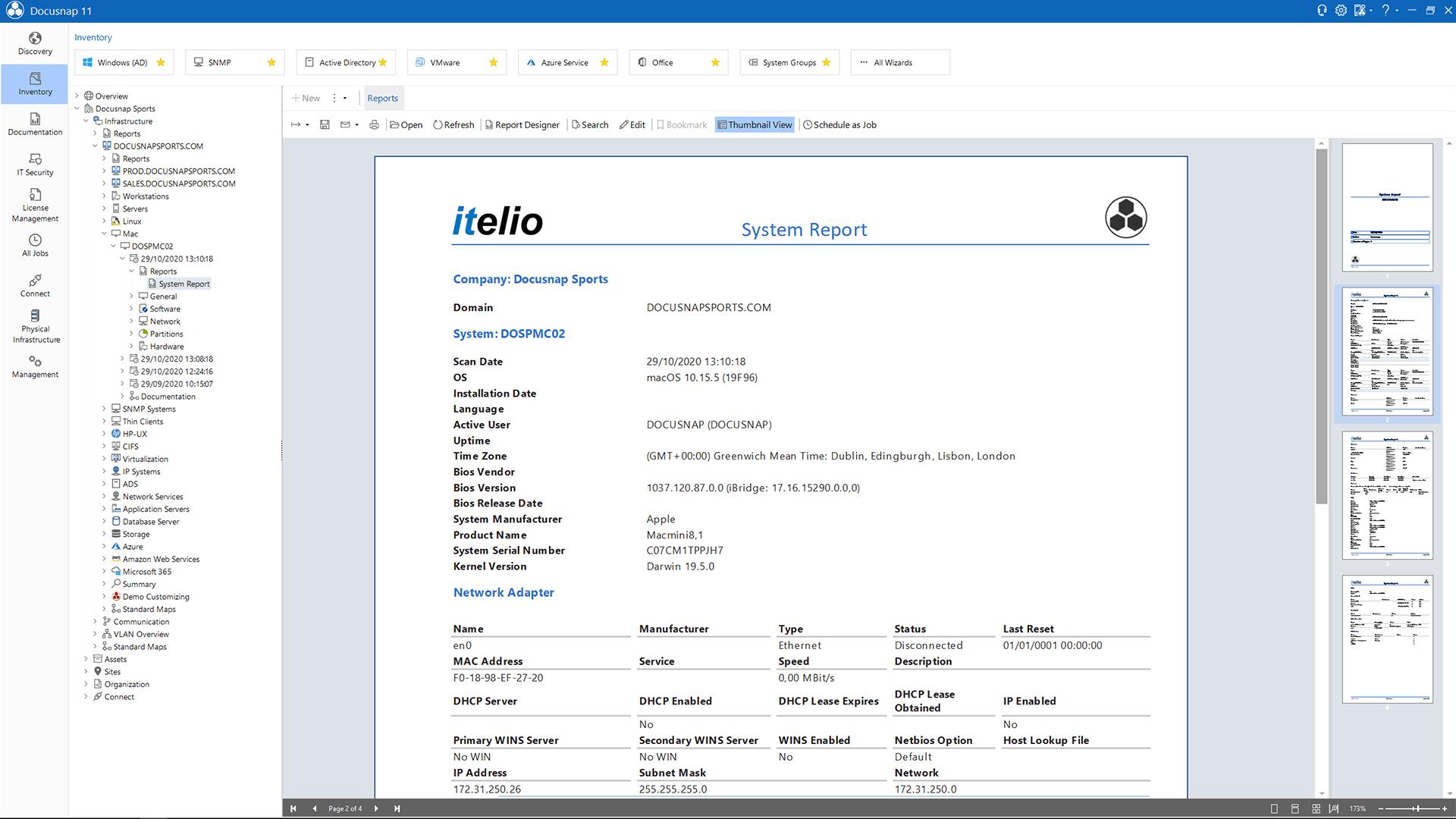 Screenshot: Datasheet Mac