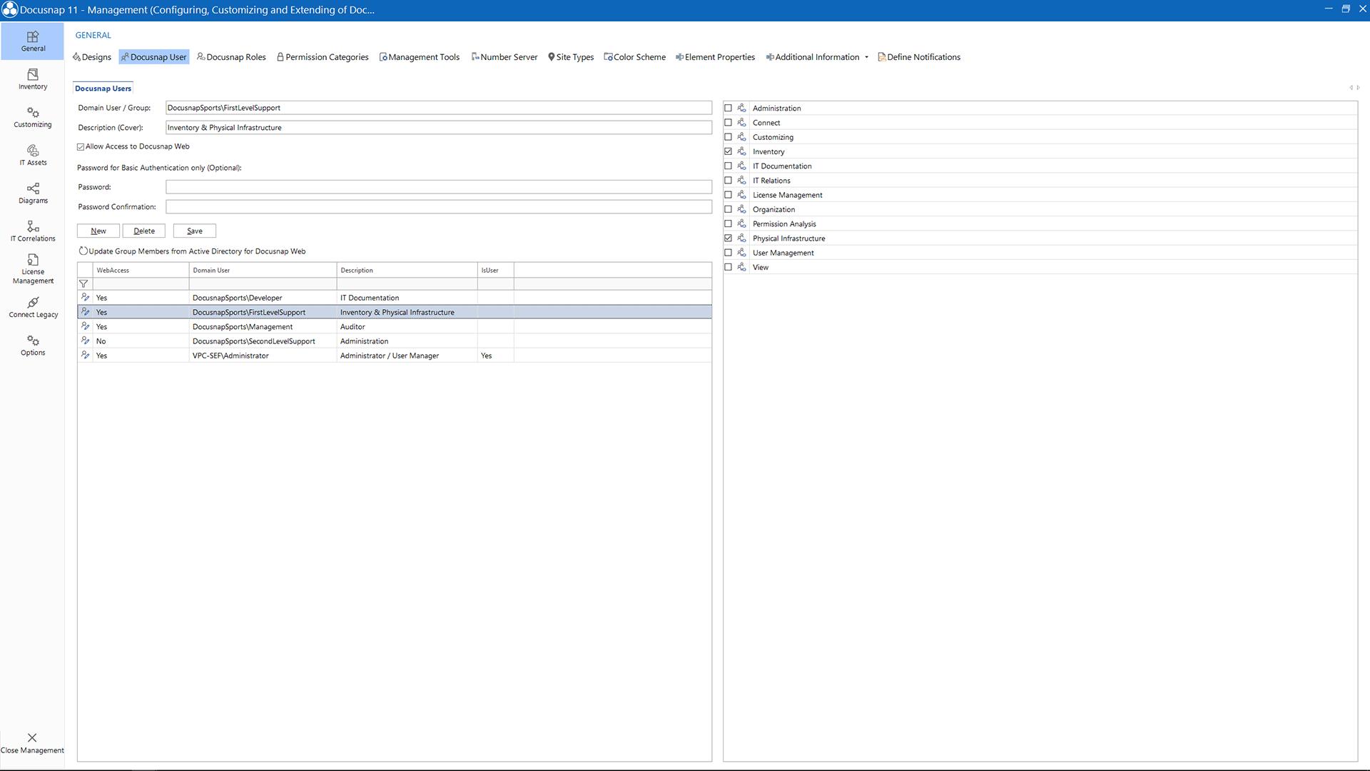 Screenshot: Manage Users