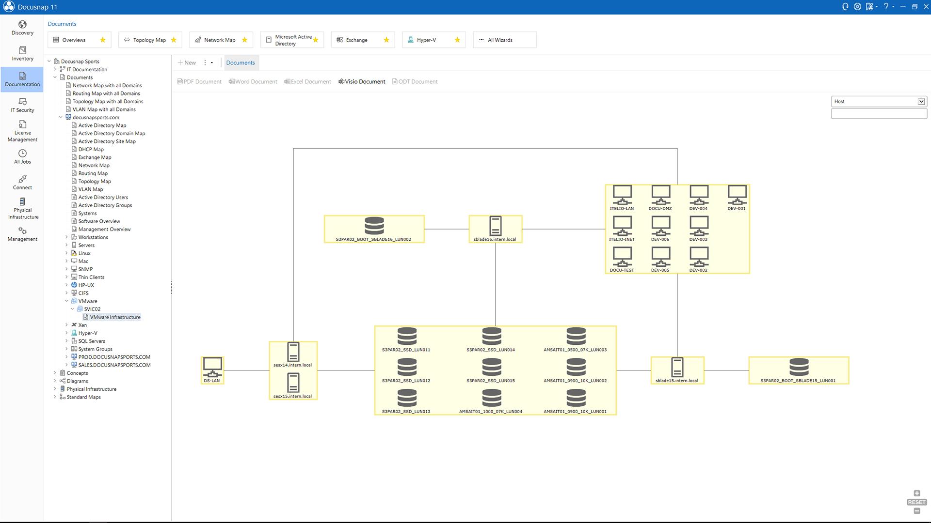 Screenshot: Inventory VMware Infrastructure