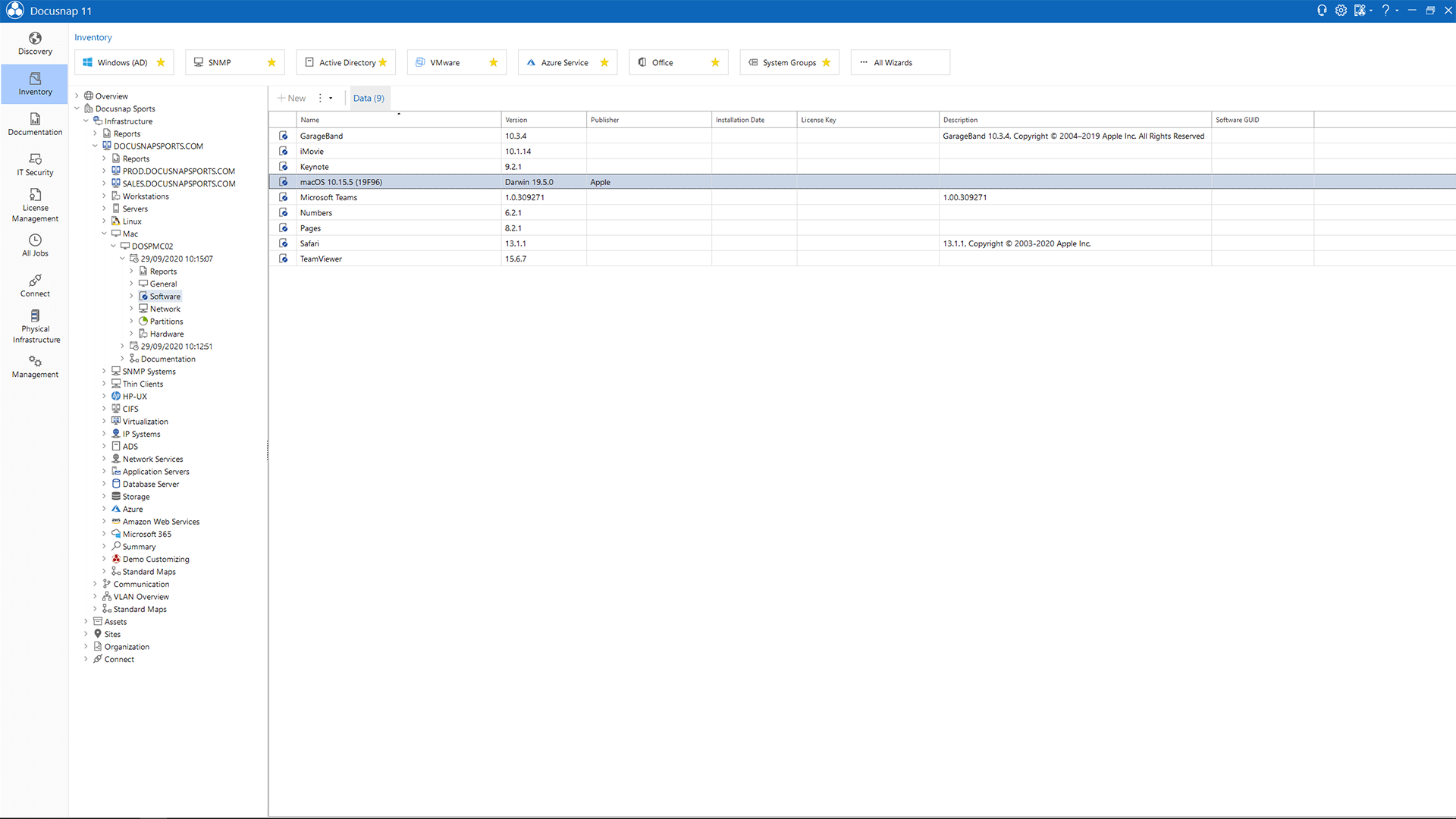 Screenshot: Data Explorer Mac Software