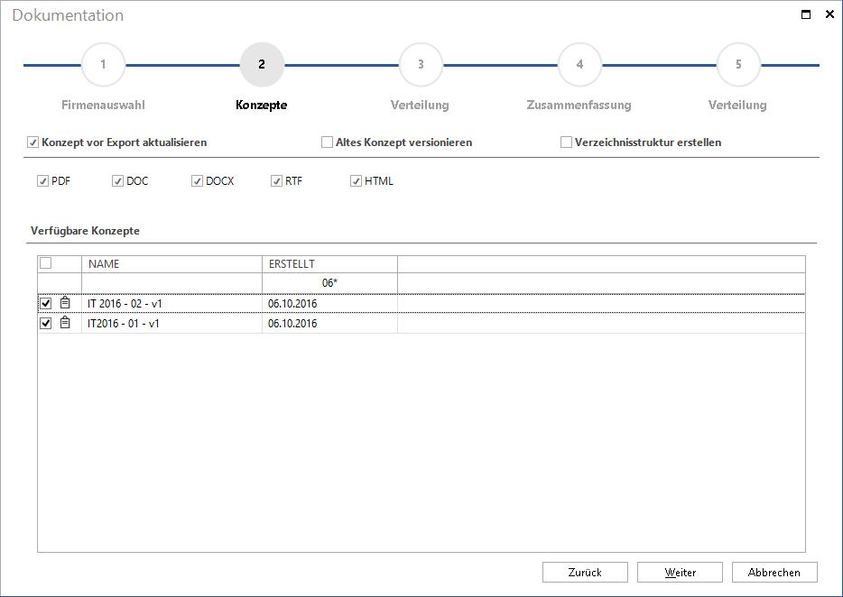 testAutomatische Erstellung von IT-Konzepten durch flexible Vorlagen