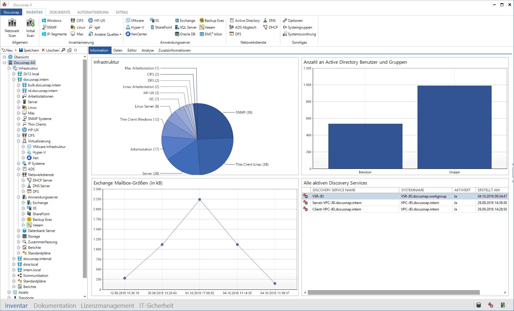 Screenshot: IT-Inventarisierung als Basis jeder IT-Dokumentation