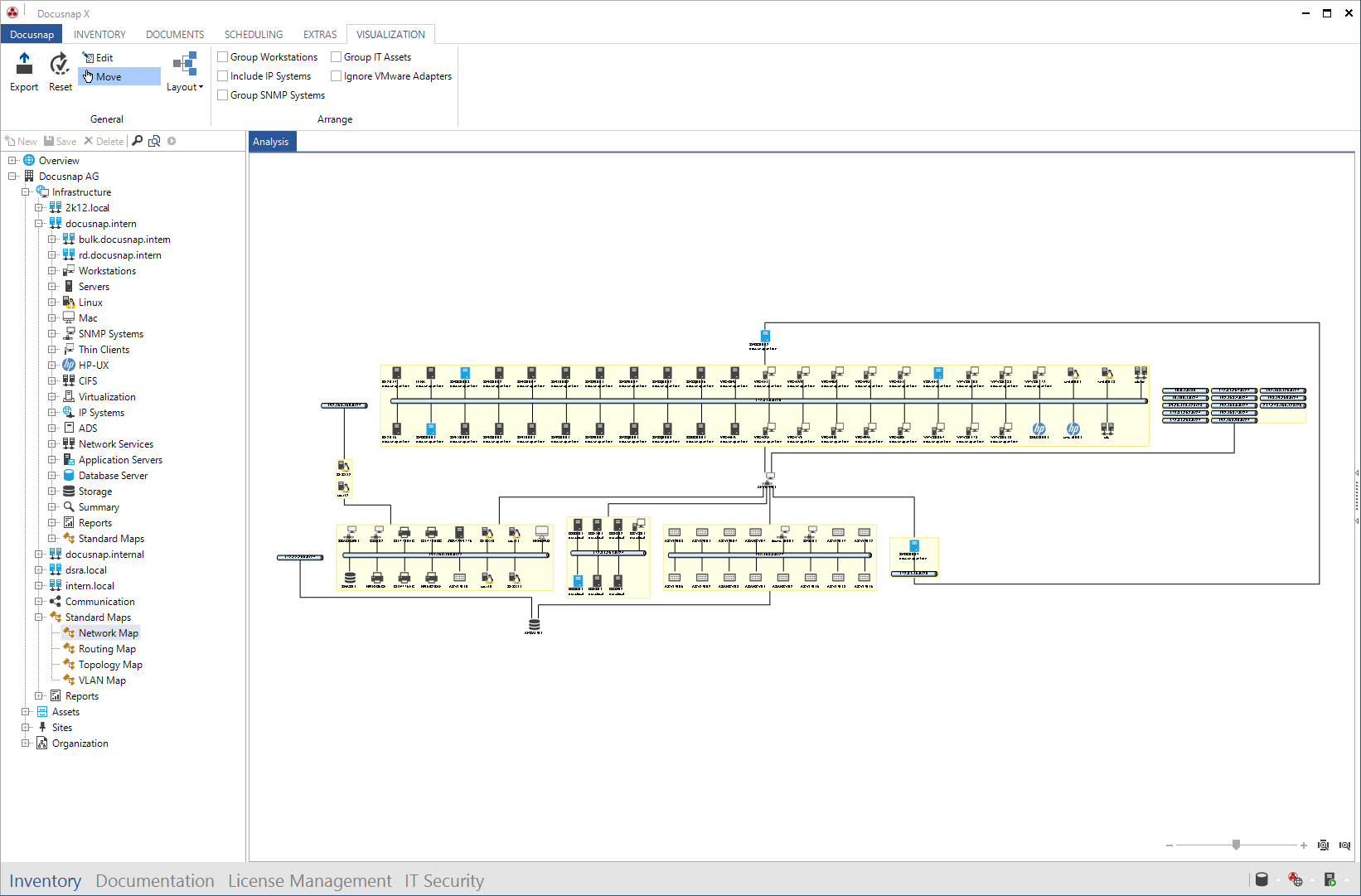 Screenshot: Networkplan