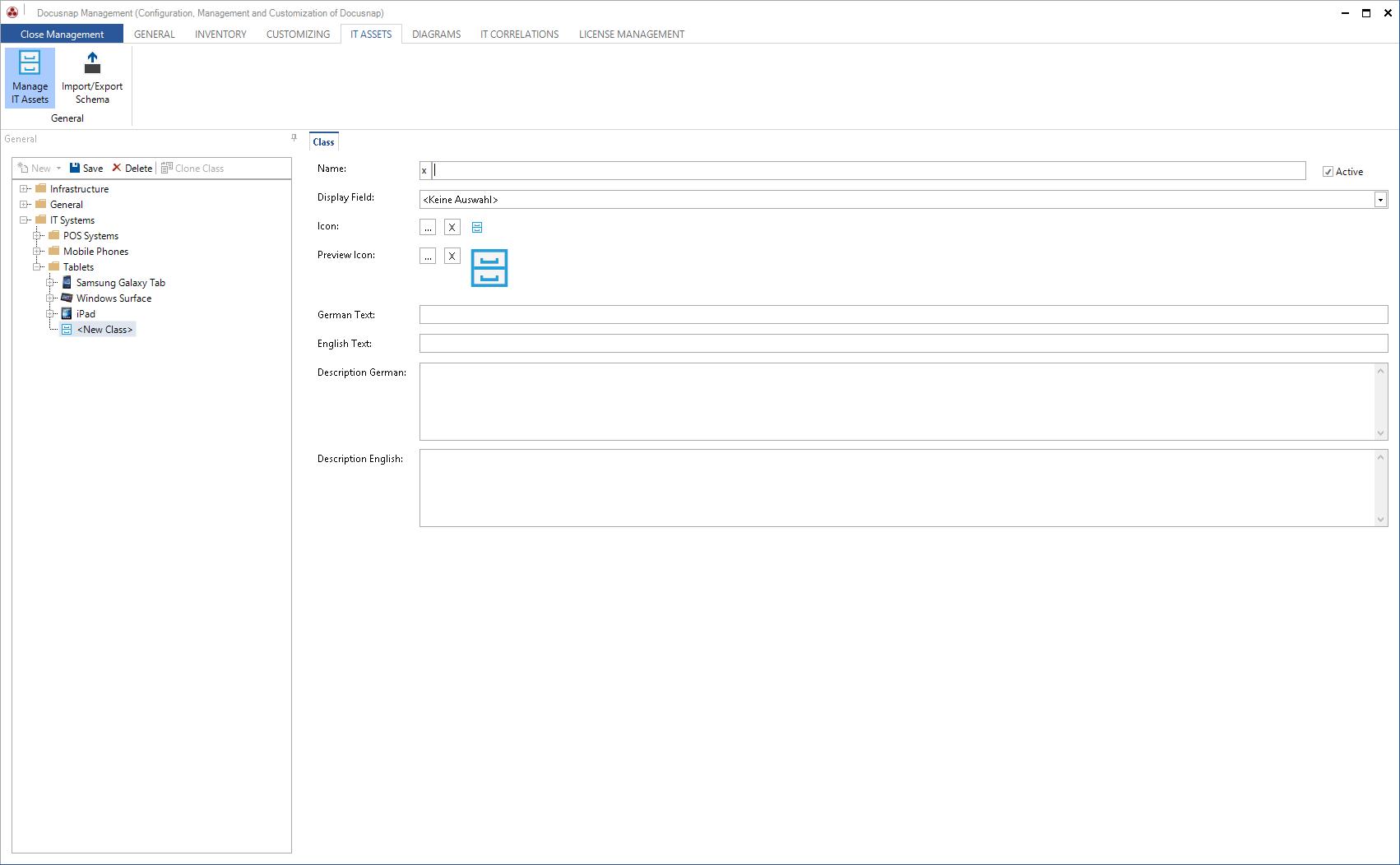 Screenshot: Importing IT asset data