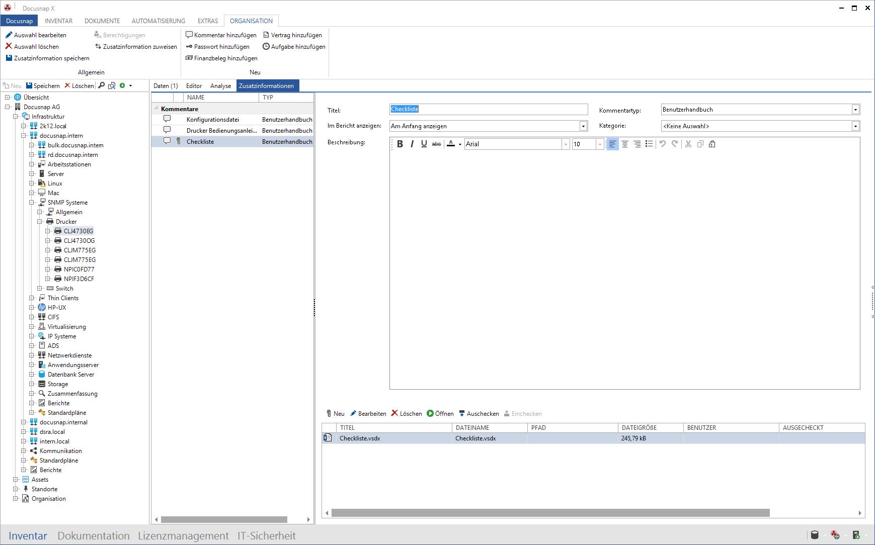 Screenshot: Verwaltung Dateianlagen