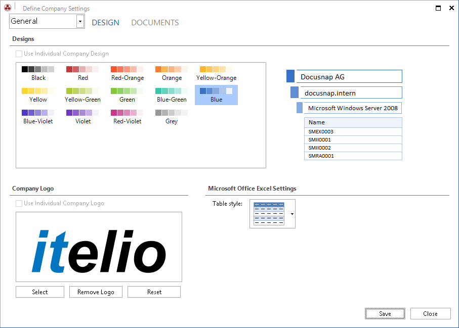 Screenshot: Corporate Identity Reflection